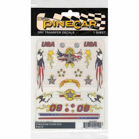 Woodland Scenics Pine Car Derby Dry Transfer Decal, 4