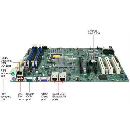 Super Micro X9SCAFB LGA1155/ Intel C204 PCH/ DDR3/ SATA3/ V&2GbE/ ATX Server Motherboard, Bulk