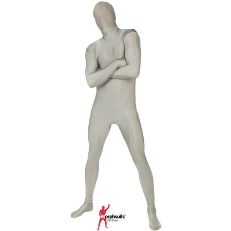 Original Morphsuits Silver Adult Suit Solid Morphsuit Bodysuit