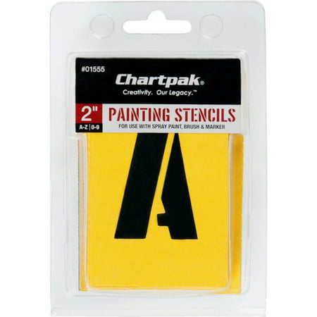 Chartpak Painting Stencil (Chartpak Painting Letters/Numbers Stencils, 35 per)