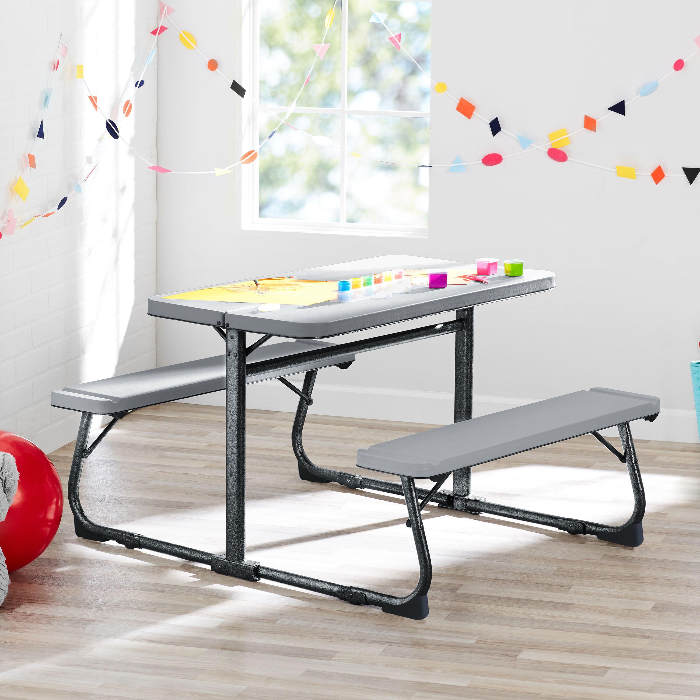 Your Zone Folding Kid S Activity Table Multi Functional Walmart Com Walmart Com