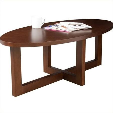 Regency chloe oval high veneer coffee table in mocha for Coffee table 80 x 50