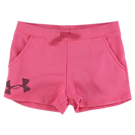 Under Armour Girls Favorite Fleece Shorts Pink (Little Girl Shorts To Wear Under Dresses)