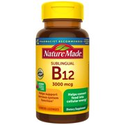 Nature Made Sublingual Vitamin B12 3000 mcg Micro-Lozenges, 40 Count for Metabolic Health
