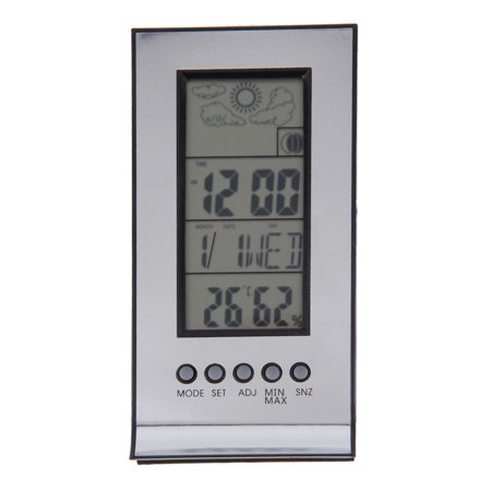 Indoor Outdoor Wireless Thermometer Weather Station Alarm Clock ...