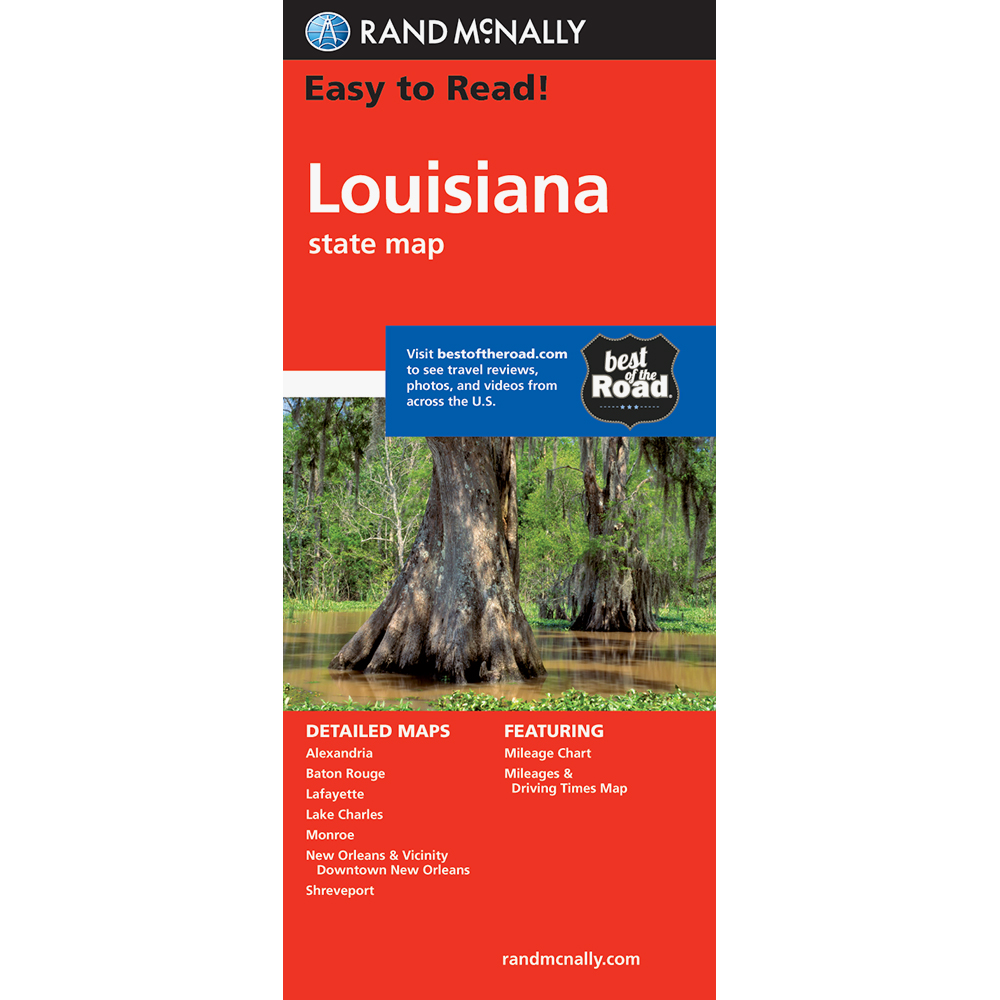 Easy To Read Louisiana State Map