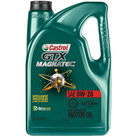 (3 Pack) Castrol GTX MAGNATEC 0W-20 Full Synthetic Motor Oil, 5