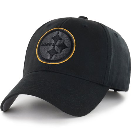 Youth Fan Favorite Black Pittsburgh Steelers Basic Adjustable Hat - OSFA](Steelers Accessories)