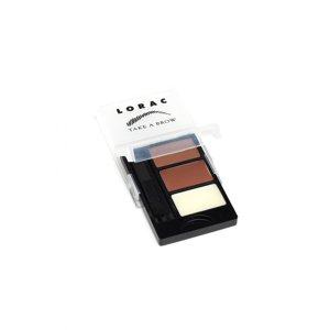 Lorac Take a Brow Kit Eyebrow Powders Brush Included .08 oz Auburn