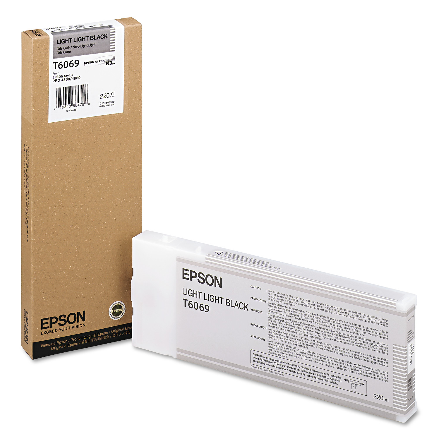 Epson T606900 (60) Ink, Light Light Black