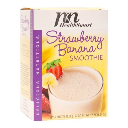 HealthSmart - High Protein Diet Fruit Smoothie - Strawberry Banana - 15g Protein - Low Calorie - Low Carb - Gluten Free - (Banana Milkshake Calories)