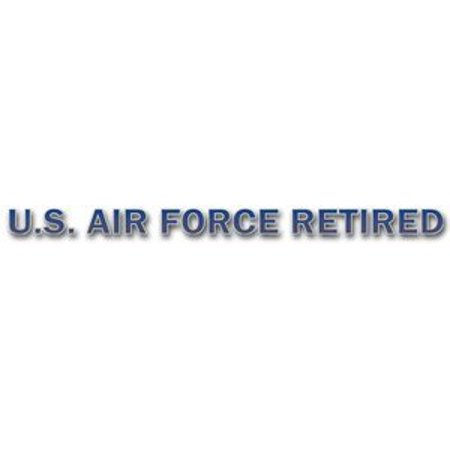 MAGNET U.S. Air Force Retired Military Window Strip Decal (20 Inch)
