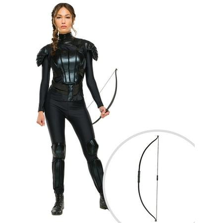 Mockingjay The Hunger Games Katniss Everdeen Adult Costume and The Katniss Everdeen Hunger Games Bow