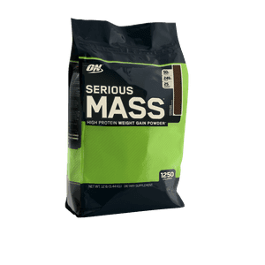 Optimum Nutrition Serious Mass Protein Powder, Chocolate, 50g Protein, 12 Lb