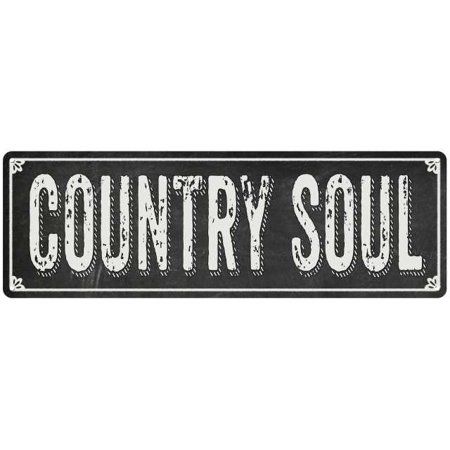 COUNTRY SOUL Shabby Chic Black Chalkboard Metal Sign 8x24 Decor 108240050025