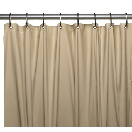 Royal Bath Extra Long 5 Gauge Vinyl Shower Curtain Liner In Linen Size 72 Wide