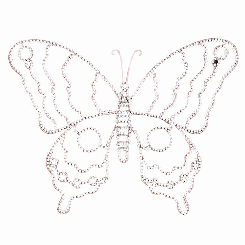 Jubilee Collection Large Wire Beaded Butterfly Wall D cor (Set of 2)