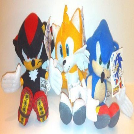 Sonic The Hedgehog, Shadow and Tails Plush Doll Set of 3 - Tails Sonic Hedgehog