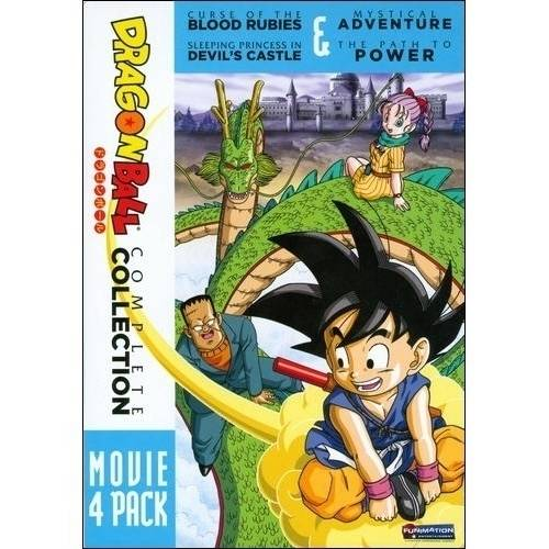 DragonBall: 4 Movie Pack - Curse Of The Blood Rubies / Sleeping Princess In Devil's Castle / Mystical Adventure / The Path To Power (Japanese)