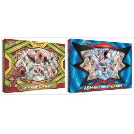 Pokemon Trading Card Game Scizor EX Box and Ash Greninja EX Box Collection Bundle, 1 of Each](Pokemon Container)