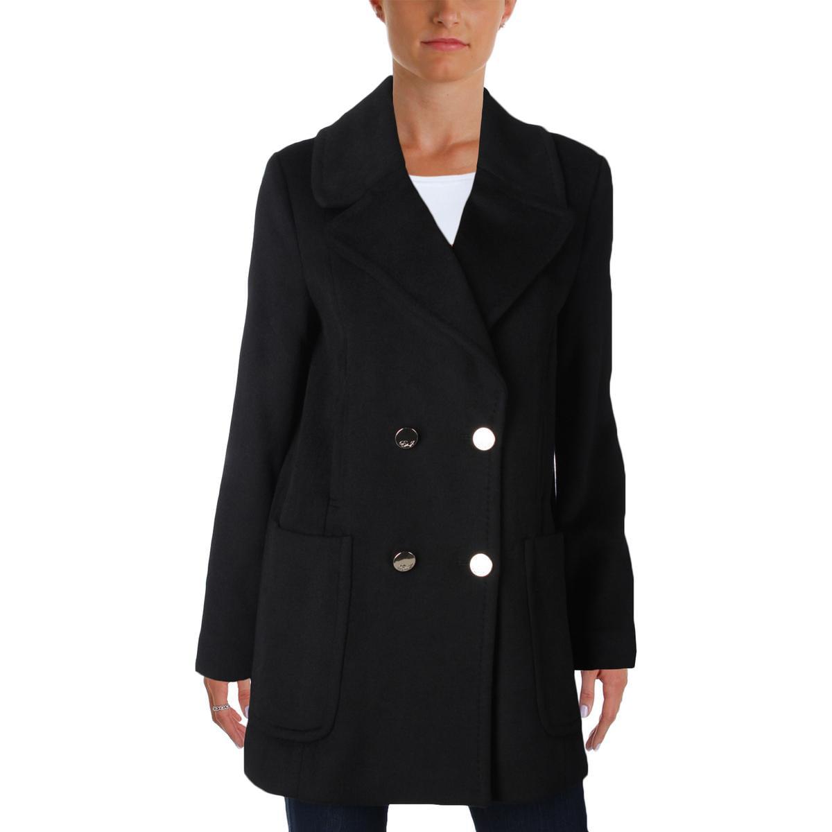 Eliza J Womens Wool Blend Double-Breasted Pea Coat by Eliza J