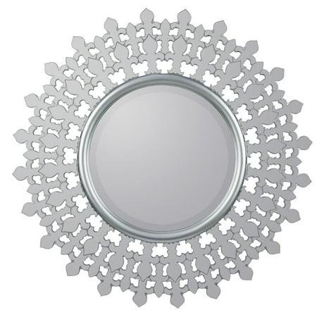 Cooper Classics Silvertone Round Wall Mirror - Silver