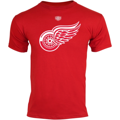 Old Time Hockey Detroit Red Wings Youth Big Logo Crest T-Shirt - Red