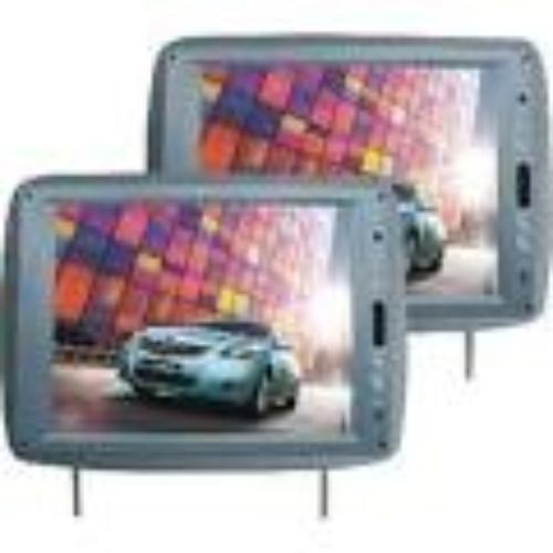 "Tview T120PLGR 12"" Tft Lcd Headrest Monitor Gray Pair"