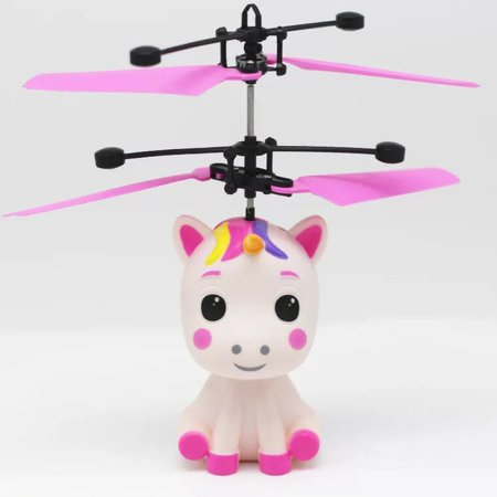 Unicorn Flying Ball Rc Toy Light Up Flying Fairy Toys For Kids Birthday Rechargeable Inductive Remote Control Helicopter - image 5 of 7