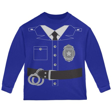 Halloween Cop Costumes (Halloween Police Policeman Cop Costume Toddler Long Sleeve T)