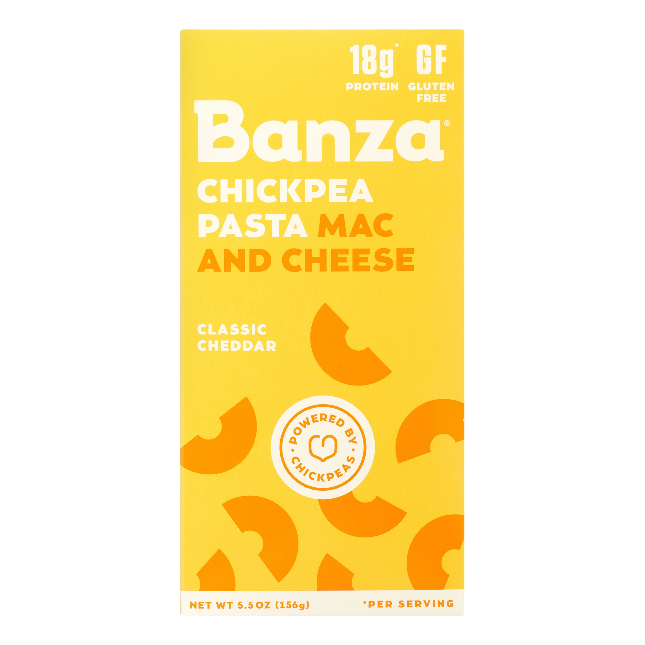 Banza Chickpea Mac & Cheese, Classic Cheddar Cheese, 5.5 Oz