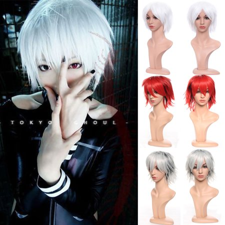 Green Costume Wigs (S-noilite Short Cosplay Wig Women Men Fluffy Straight Anime Comic Hairstyle Party Costume Dress Synthetic Hair Pixie Wigs Dark)