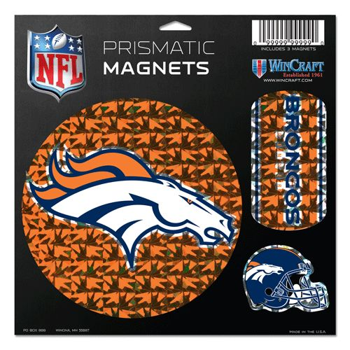 "Denver Broncos Magnets - 11""x11"" Prismatic Sheet"