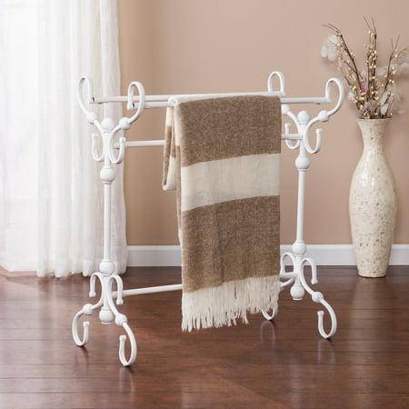 Southern Enterprises Logan Blanket Rack, White
