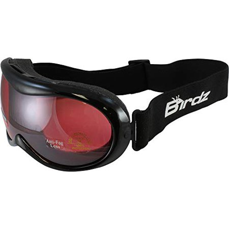 Birdz Eyewear Talon Junior Black Frame Kids Ski Goggles Comes with a Micro Fiber Storage Lens Cleaning Pouch (Cleaning Goggles)