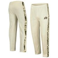 Colorado Buffaloes Colosseum OHT Military Appreciation Desert Camo Fleece Pants - Heathered Oatmeal