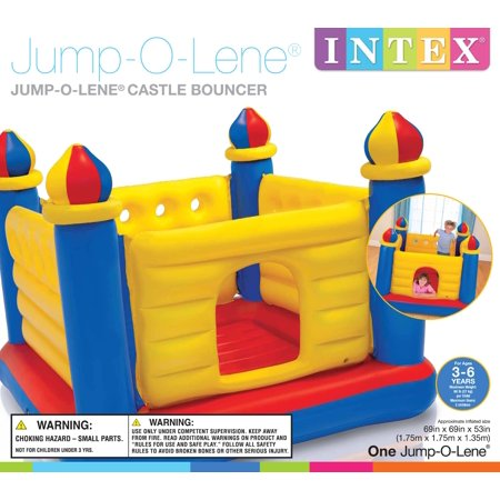 Intex Inflatable Colorful Jump-O-Lene Kids Castle Bouncer for Ages 3-6 | 48259EP - image 4 of 7