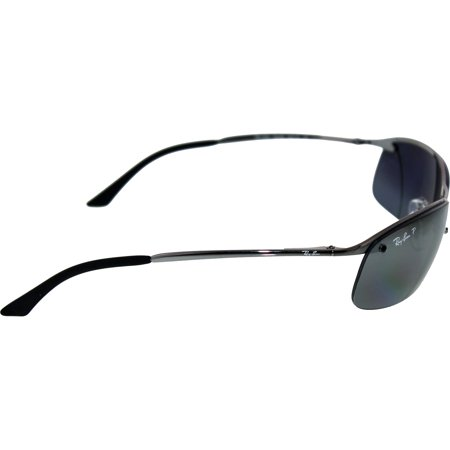 f07a55a2680620 Ray-Ban Men's Polarized RB3183 RB3183-004/82-63 Silver Semi-Rimless ...