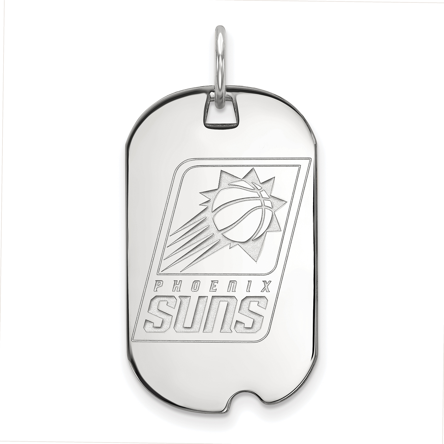 Phoenix Suns Women's Sterling Silver Small Dog Tag - No Size