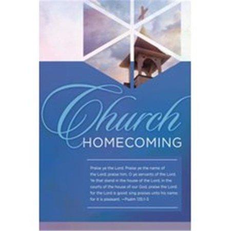 B & H Publishing 152609 Church Homecoming Bulletin - Psalm 135-1-3 KJV - Pack of 100 - Church Homecoming Themes