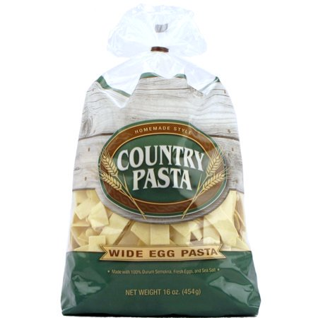 (3 Pack) Country Pasta Homemade Style Wide Egg Pasta, 16