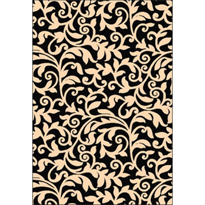 Terra Vintage Black & Ivory Rug