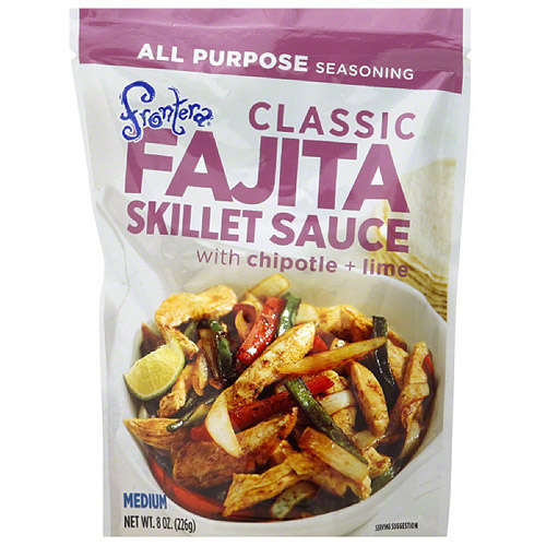 Frontera Classic Fajita Skillet Sauce with Chipotle + Lime, 8 oz, (Pack of 6)