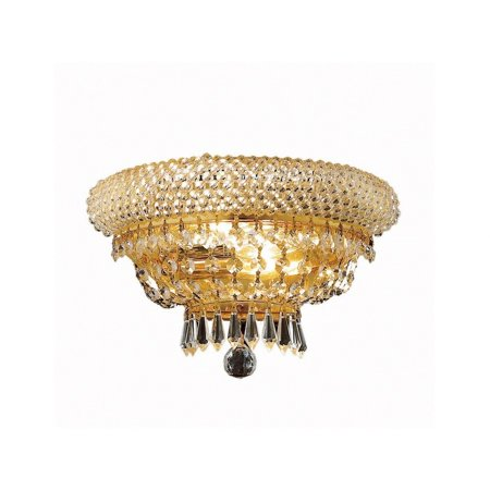 Primo 2 light Gold Wall Sconce Clear Elegant Cut Crystal - Gold Clear Crystal