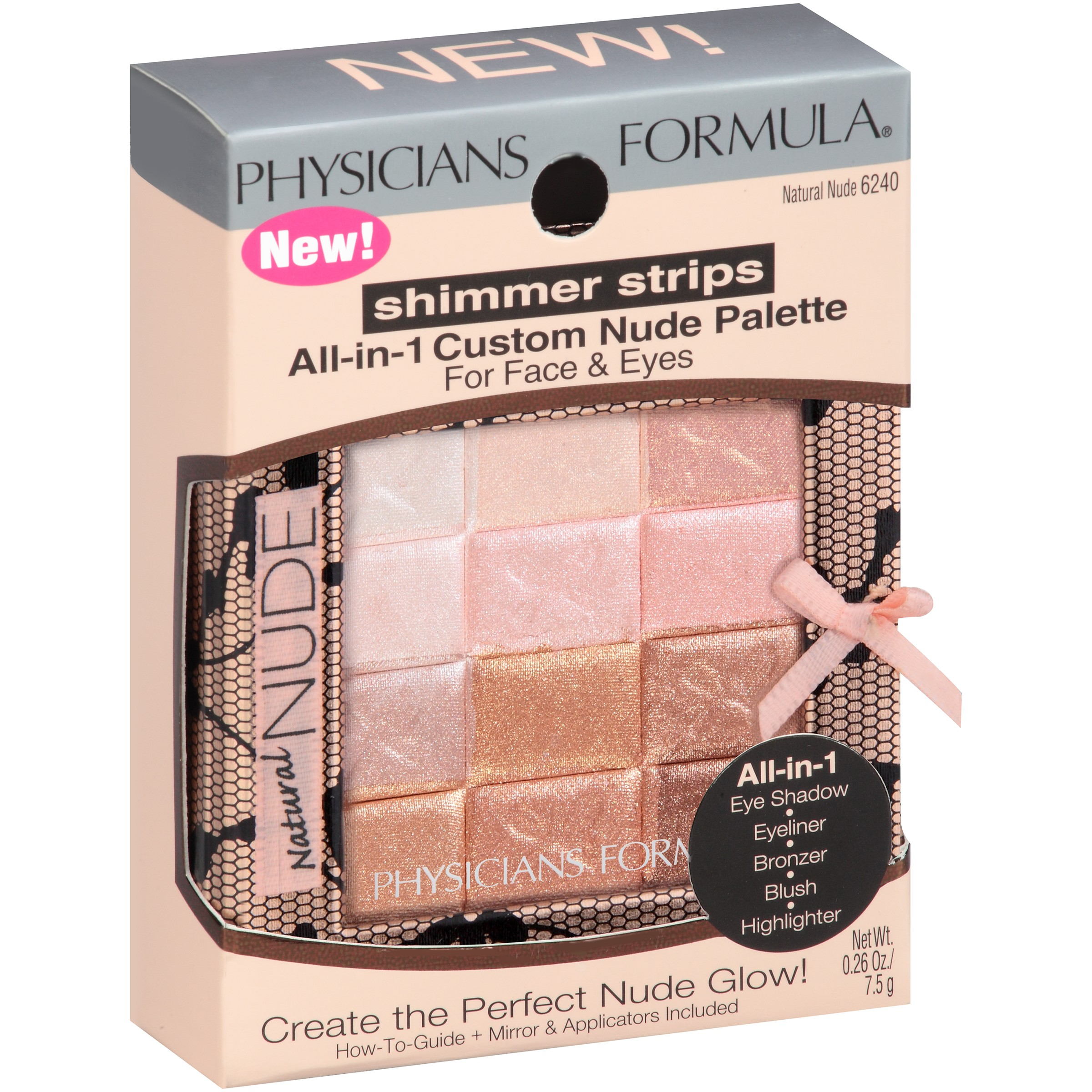 Physicians Formula Shimmer Strips All In 1 Custom Natural Nude 6240