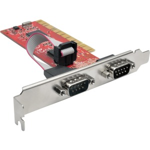 Tripp Lite 2-Port DB9 (RS-232) Serial PCI Card with 16550 UART, Full Profile