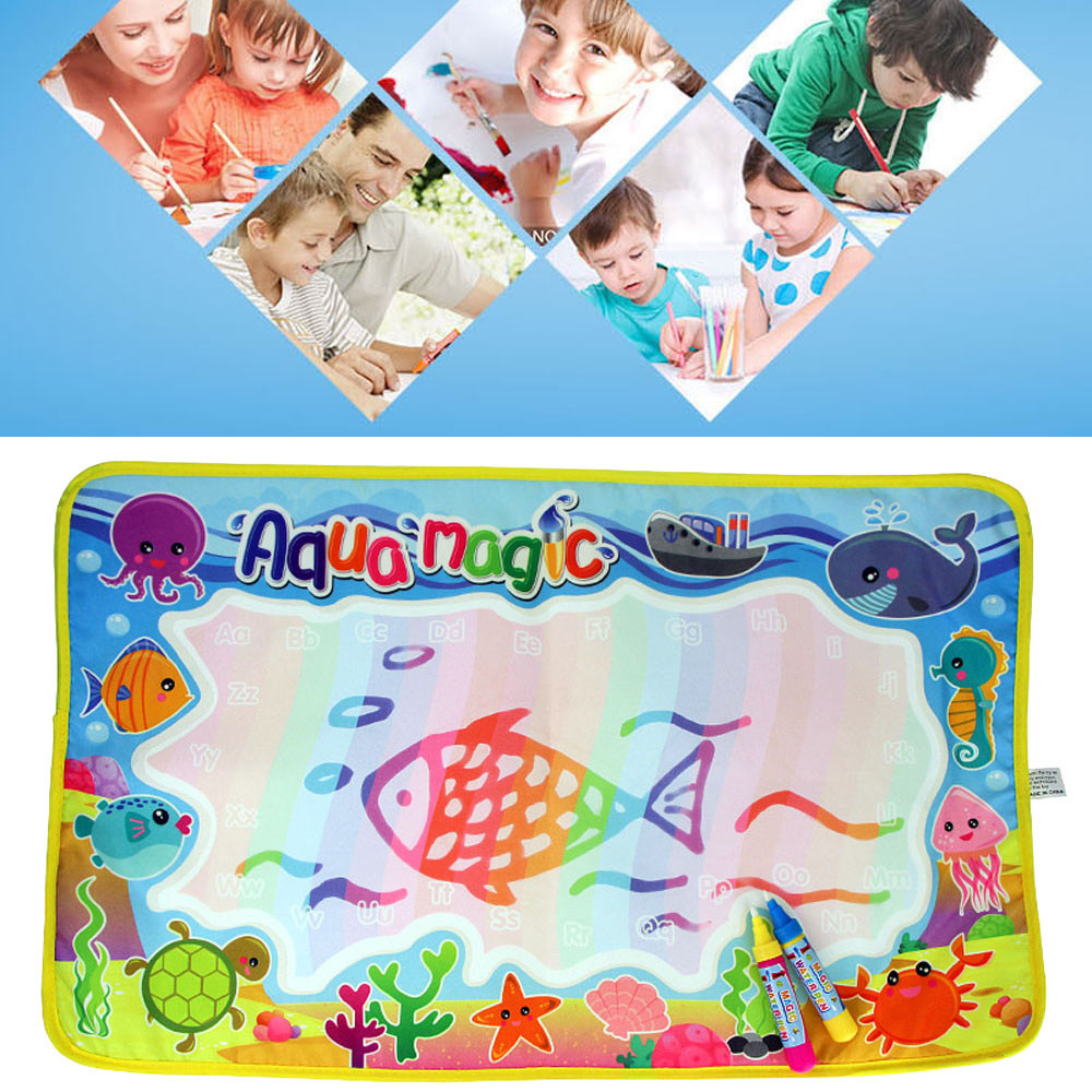 New Water Drawing Painting Writing Mat Board Magic Pen Doodle Toy Gift 59*36cm