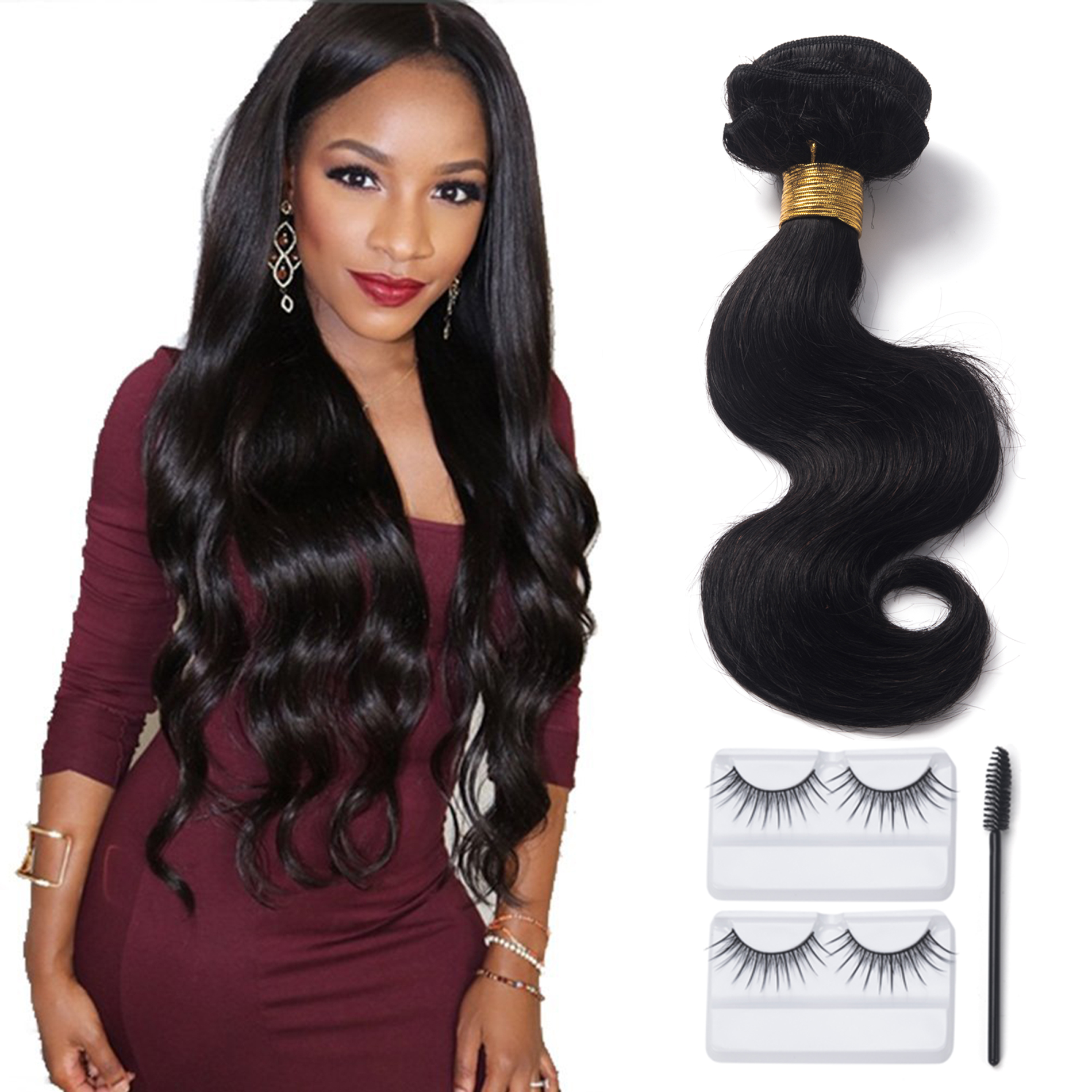 "12""-20"" Body Wave Human Hair Bundle 7A Unprocessed Brazilian Virgin Hair Weave Wefts Extension Natural Color"