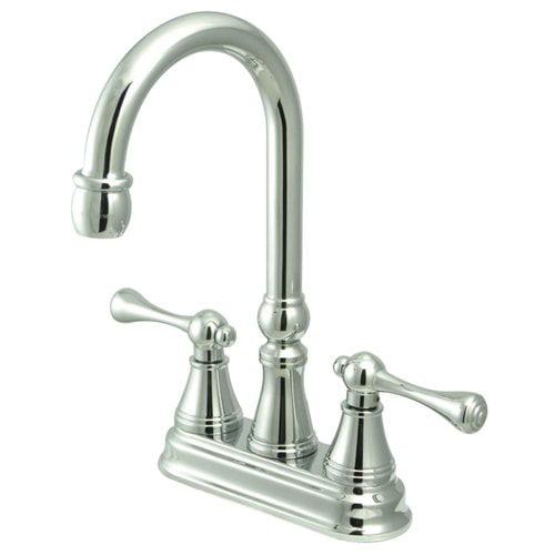 Kingston Brass Victorian Double Handle Kitchen Faucet