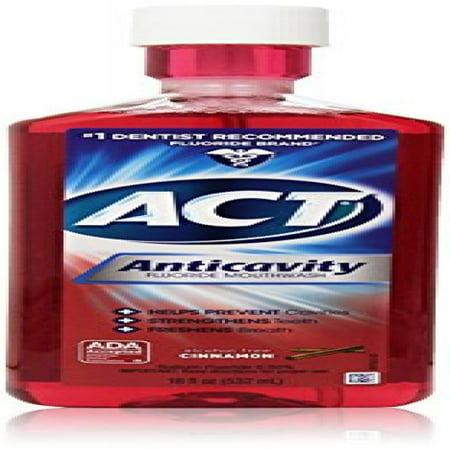 ACT Anticavity Fluoride Rinse, Cinnamon, Alcohol Free 18-Ounce Bottle Act Anticavity Fluoride Rinse Alcohol Free